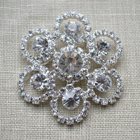 Cheap Vintage Wedding SDBH309 Regina Stunning Diamante Brooch  | Diamante Embellishments