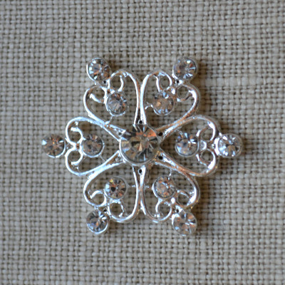 Cheap Vintage Wedding Filigree Star - Fern  | Diamante Embellishments