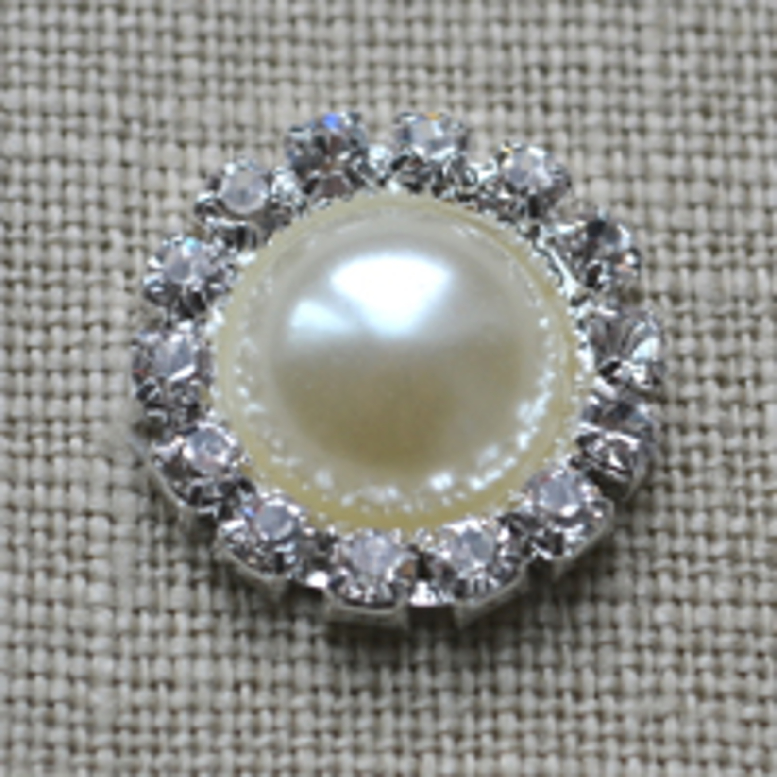 Cheap Vintage Wedding Large Round pearl and diamante Wedding embellishment  | Diamante Embellishments
