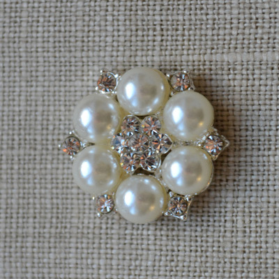 Cheap Vintage Wedding Star Pearl and diamante embellishment  | Diamante Embellishments