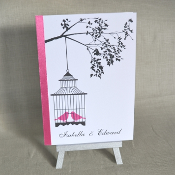 Budget Handmade Bird Cage Wedding Invitation and Stationery