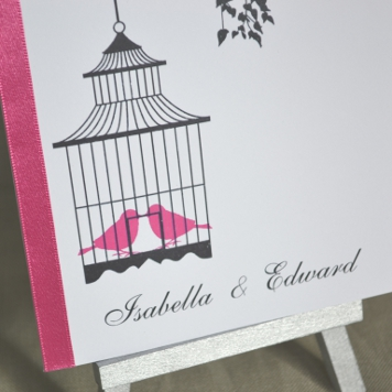 Handmade Bird Cage Wedding Invitation