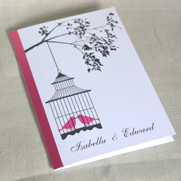 Handmade Bird Cage Wedding Invite