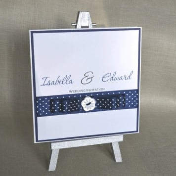 Handmade Button and Bow Wedding Invitation and Stationery