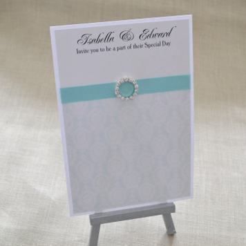 Handmade Damask Wedding Invitation and Stationery